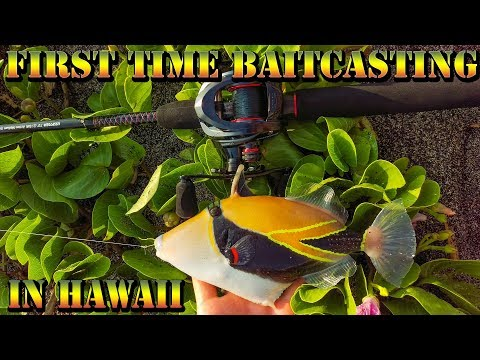 Fishing With A Baitcaster Reel For The 1st Time - KastKing Spartacus Maximus In Hawaii - BODS 45