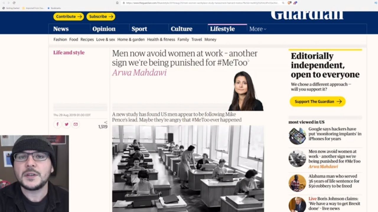 Me Too BACKFIRE Is Getting Worse, Feminist Thinks Men Are