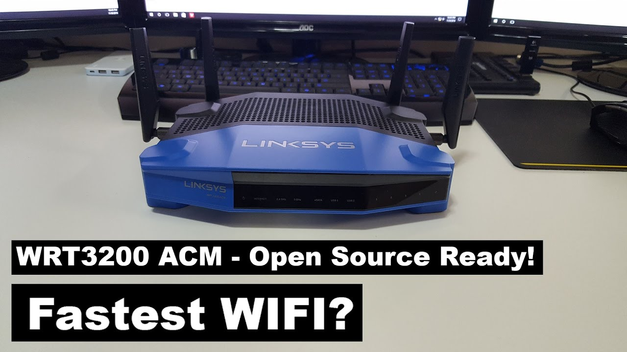 Fastest Wifi Router? WRT3200ACM Review & DD-WRT Install!