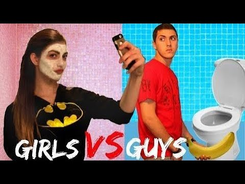 Thumbnail: Night Routine Guys Vs. Girls!