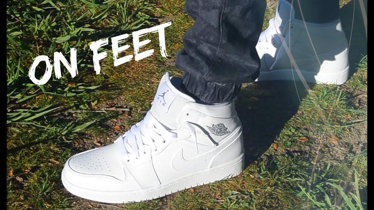 La Force De Lair Jordans Tous Les Pieds Blanc