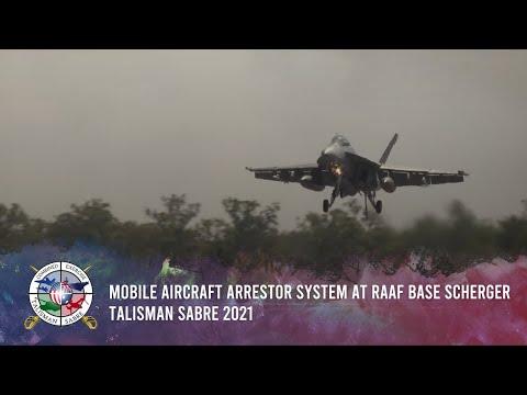 Mobile Aircraft Arrestor System at RAAF Base Scherger - Talisman Sabre 2021