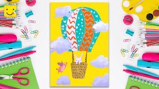Как нарисовать воздушный шар - урок рисования для детей от 4 лет, рисуем дома поэтапно