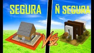 Minecraft: CASA SEGURA vs CASA NÃO SEGURA [MANYACRAFT]