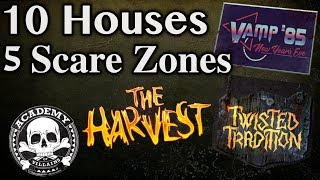 Halloween Horror Nights 28 Announcement Houses and Scare Zones