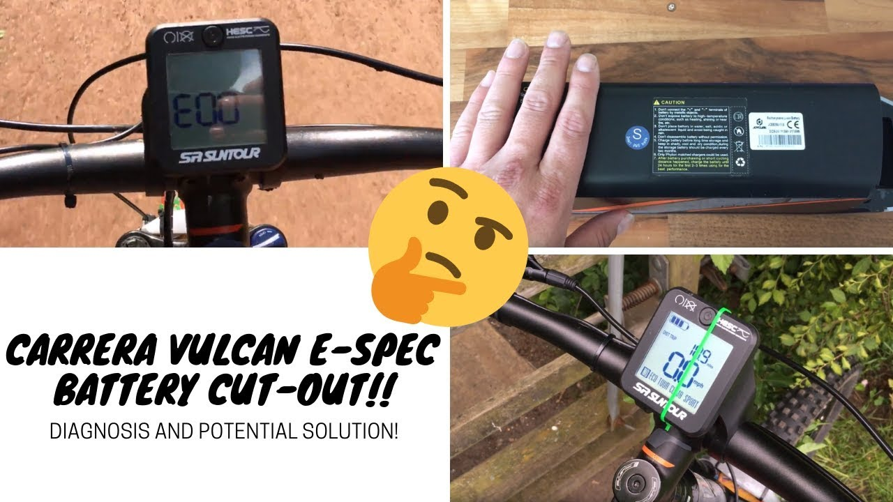 Carrera Vulcan E-Spec - electrical cut-out fault and solution! (Suntour  HESC, ebike faults)