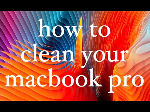 How to Clean your Macbook pro