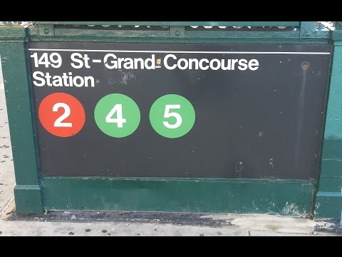 MTA New York City Subway: R142/A (2) (4) (5) Trains @ 149th Street-Grand Concourse