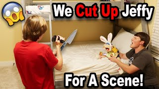 WE CUT UP JEFFY FOR A SCENE!!! *BTS*
