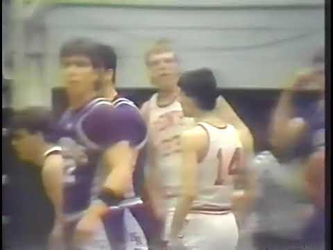 1987 Maine High School Basketball Class A Quater-Finals Cony High Rams vs Hampden Academy Broncos