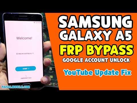 Samsung A5 2016 Frp Bypass 2021/Samsung A5100 Google Account Bypass Android 7.0 || Fix Youtube