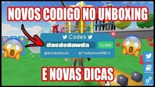 NOVOS CÓDIGOS DE COINS E NOVAS DICAS UNBOXING SIMULATOR! Roblox