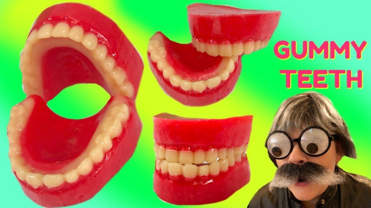 DIY Making Gummy Jello Teeth & Cutting Open Squishy Teeth Toys