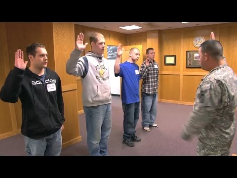 Taking The Oath Of Enlistment