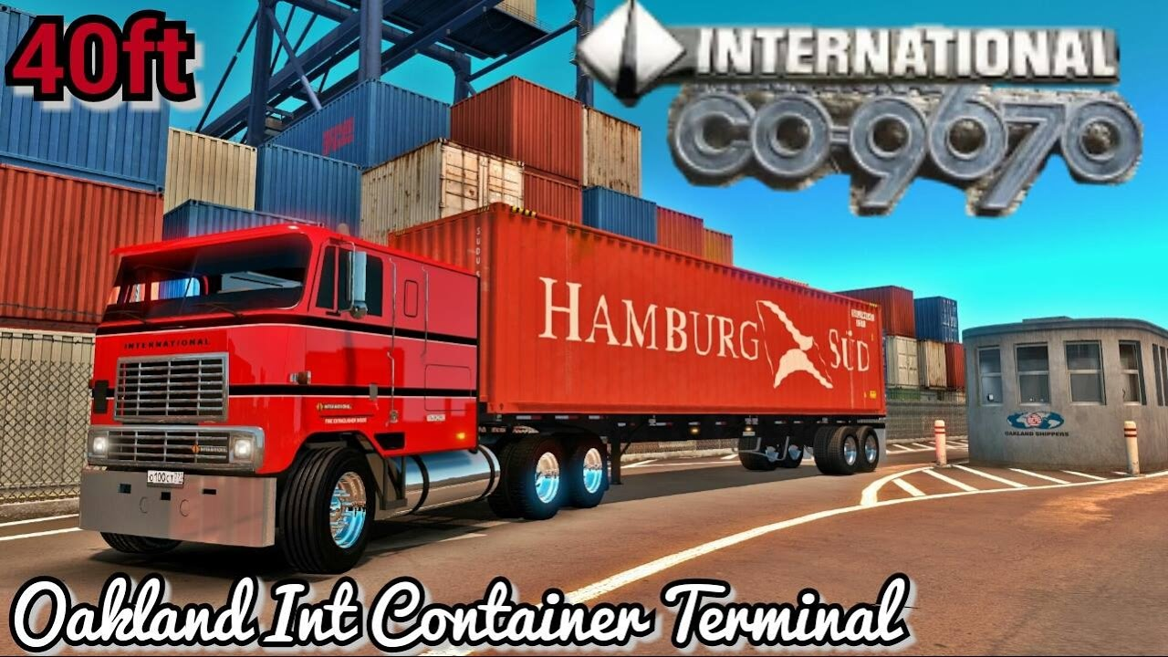 Int 9670 COE - Picking up a 40ft Container at the Wharf