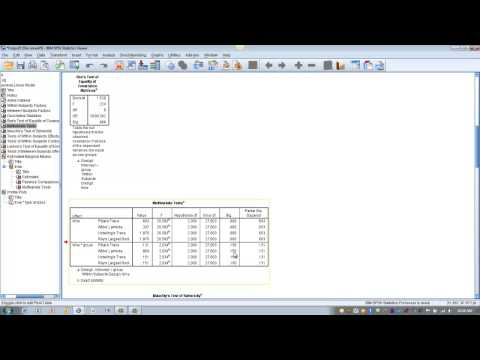 How To Use SPSS-Factorial Repeated Measures ANOVA (Split-Plot Or Mixed Between-Within Subjects)