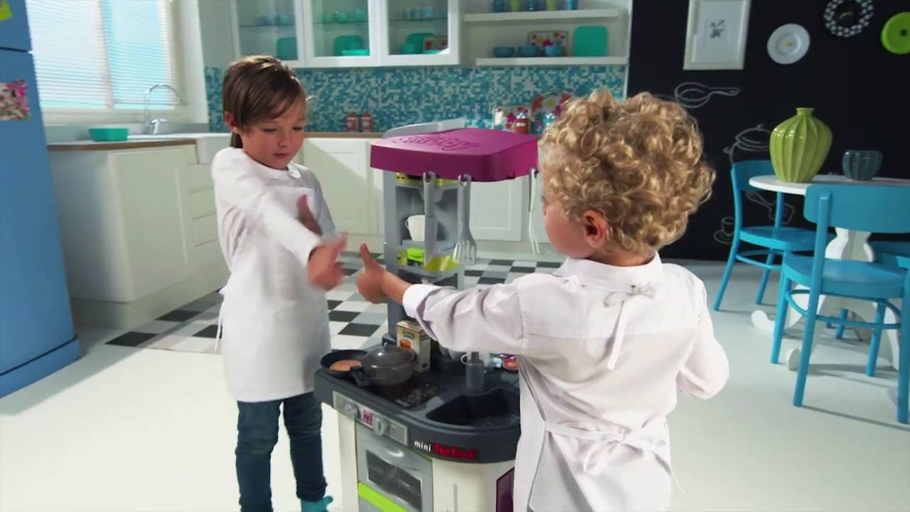 Smoby Kuchnia Minitefal Studio Magic Buble Youtube