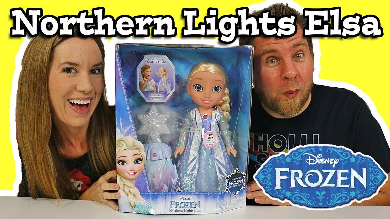 Disney Frozen Northern Lights Elsa Doll Youtube