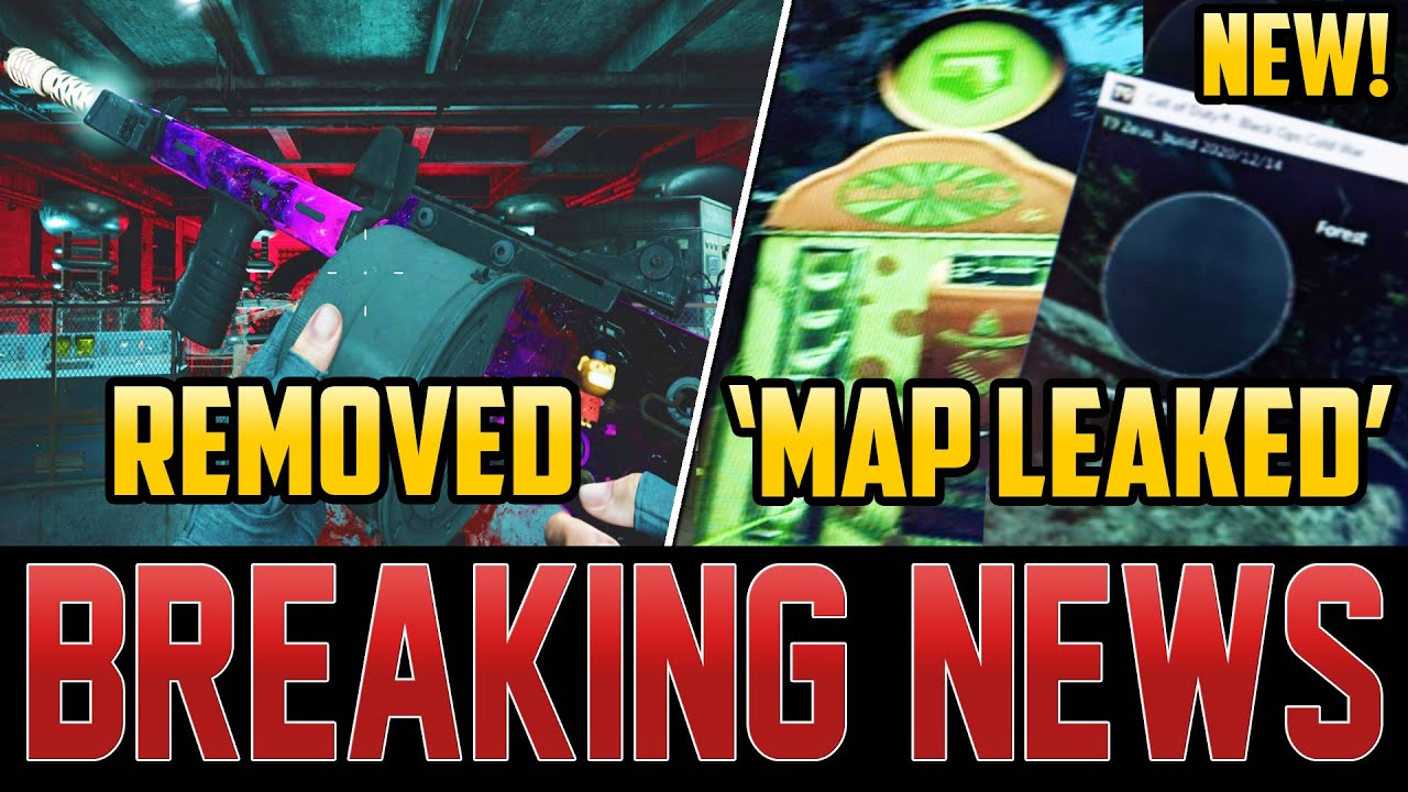 TREYARCH REMOVES NEW WEAPONS – LEAKED DLC 1 MAP SCREENSHOTS EXPOSED!  (Cold War Zombies)