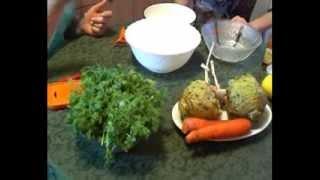 Салат с морковью и сельдереем. Тетянина садиба 2014