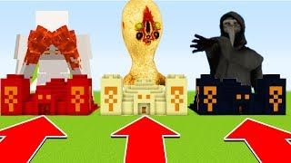 Minecraft: Do Not Choose the Wrong SANDTEMPLE (SCP 096, SCP173, SCP046)