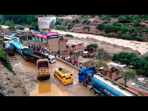 Cerrada la Carretera Central por nuevo desborde del Río Rímac