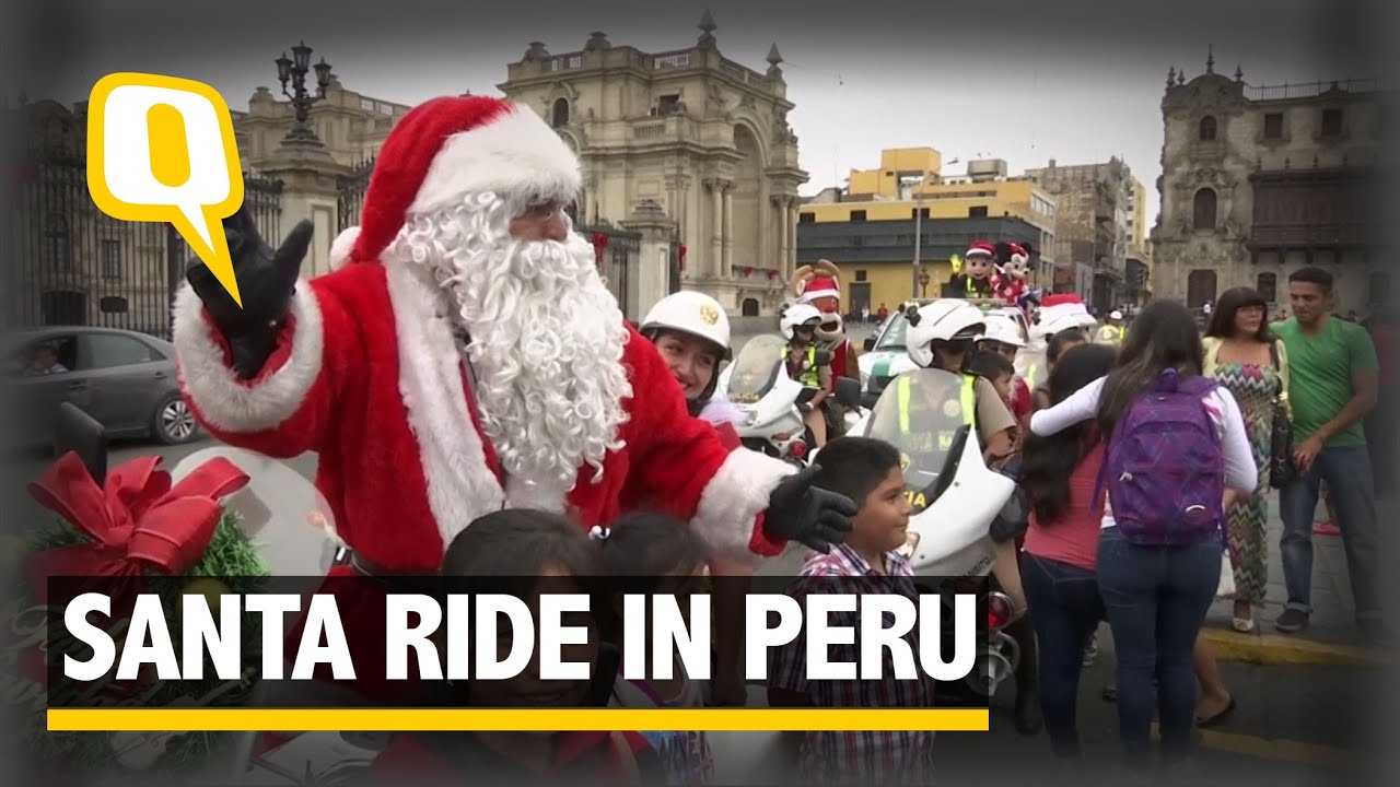 Santa 'Cops' Take Over The Streets of Lima