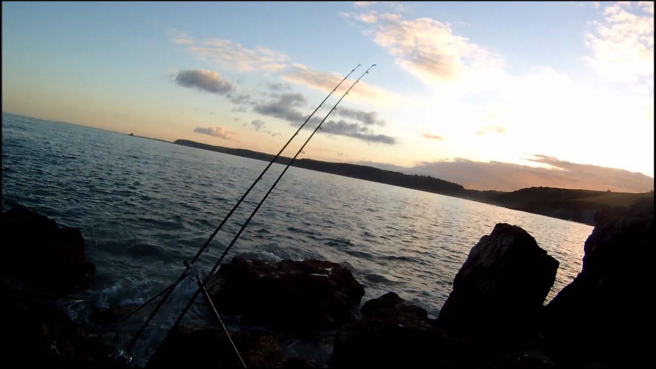 Shore fishing bait fishing for sea bass from the rocks for Bass fishing from shore