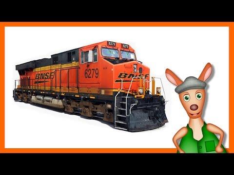 TRAINS FOR KIDS: Train videos children. Kids Videos. Preschool and Kindergarten learning.