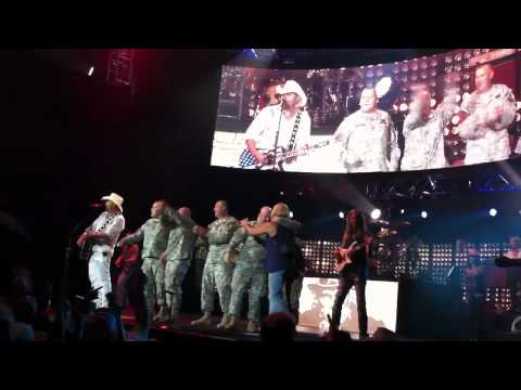 "Toby Keith - ""Courtesy Of The Red, White And Blue (The Angry American)"" on 9/9/11, Camden, NJ"