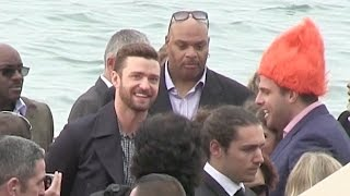 Superstar Justin Timberlake and Anna Kendrick walking the Croisette promoting Dreamworks Trolls at t