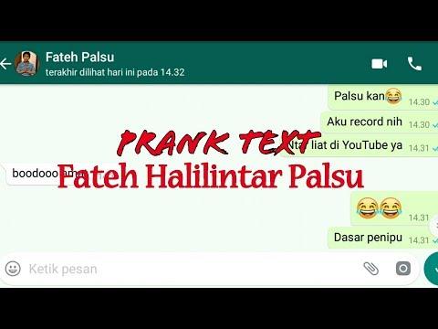 PRANK TEXT!! Fateh Halilintar Palsu