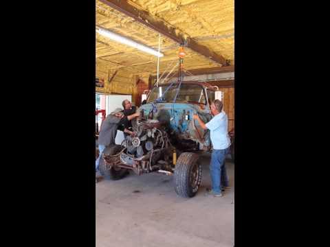 '58 Apache on an '85 4x4 frame #1