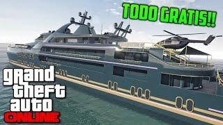 GTA 5 Online - Todo GRATIS!! Mansiones, vehículos y el Yate Gratis!! Sin trucos
