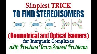 [Simplest TRICK] to find Geometrical and Optical Isomers of Inorganic Complexes