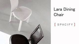 Dining Chairs - Leather Chairs, Italian Designer High Backed In Black Brown - Spacify.com