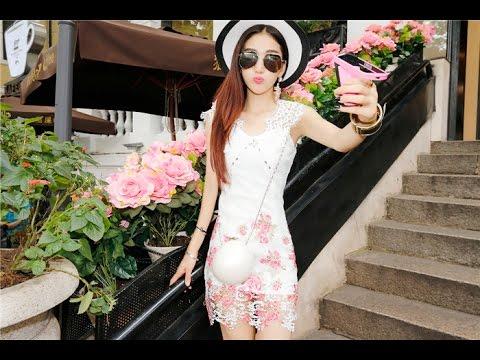 ชุดเดรสสีขาว รวมแบบ ชุดเดรสสีขาวสวยๆ น่ารักๆ แฟชั่นเกาหลี ที่นี่
