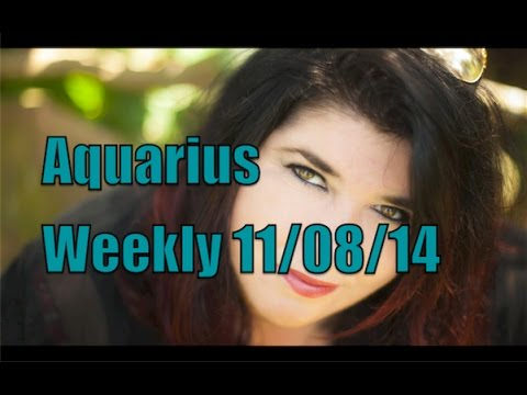Aquarius Weekly horoscope August 11th 2014