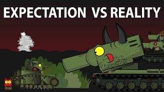 'Toonmeme - Expectation VS Reality' Cartoons about tanks