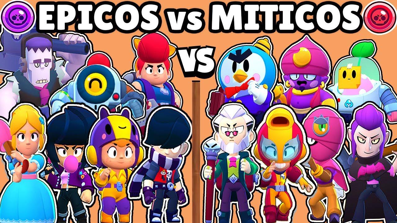 Download EPICOS vs MITICOS   CUAL ES MEJOR CALIDAD?   OLIMPIADAS de CALIDADES BRAWL STARS