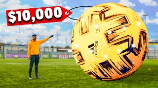 I Bought The World's LARGEST Football (GOLDEN $10,000)