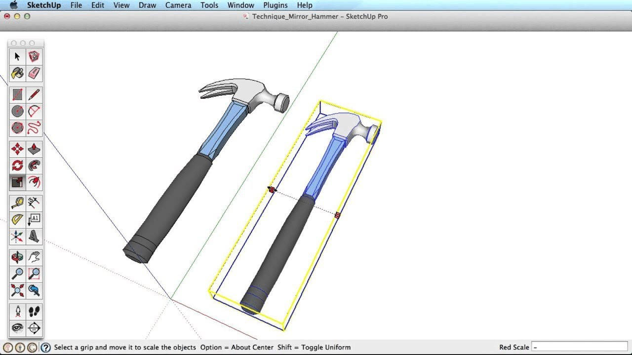 Sketchup training series mirroring objects youtube for Mirror in sketchup