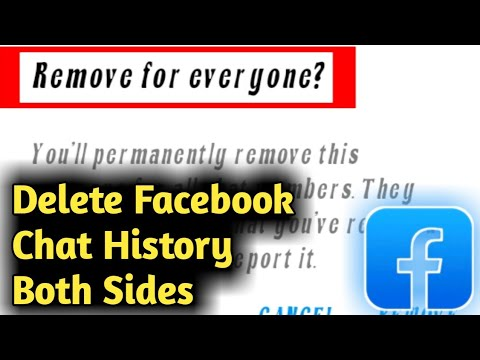 How To Delete Facebook Chat History From Both Sides