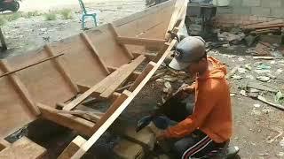 Tukang perahu ketek Jalur 17 Banyuasin