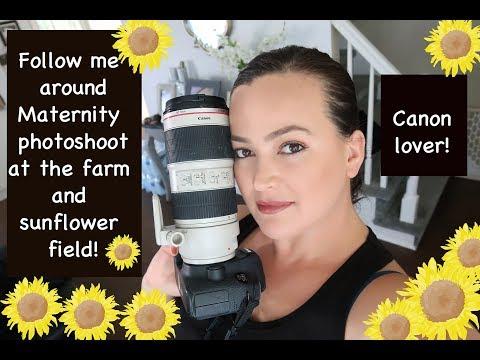 Follow me around,Maternity photoshoot sunflower field!