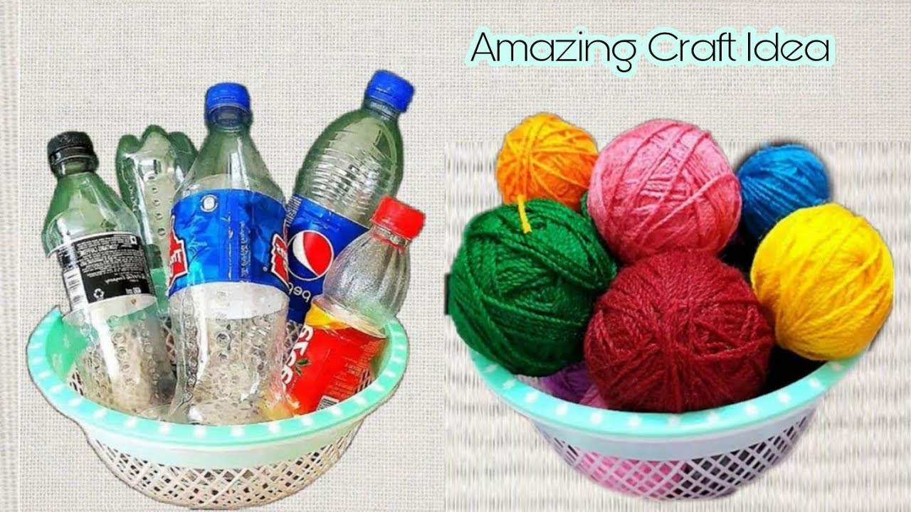 3 Useful Craft Ideas   Best Home Decor Out Of Waste Plastic Bottle and Wool   DIY Projects