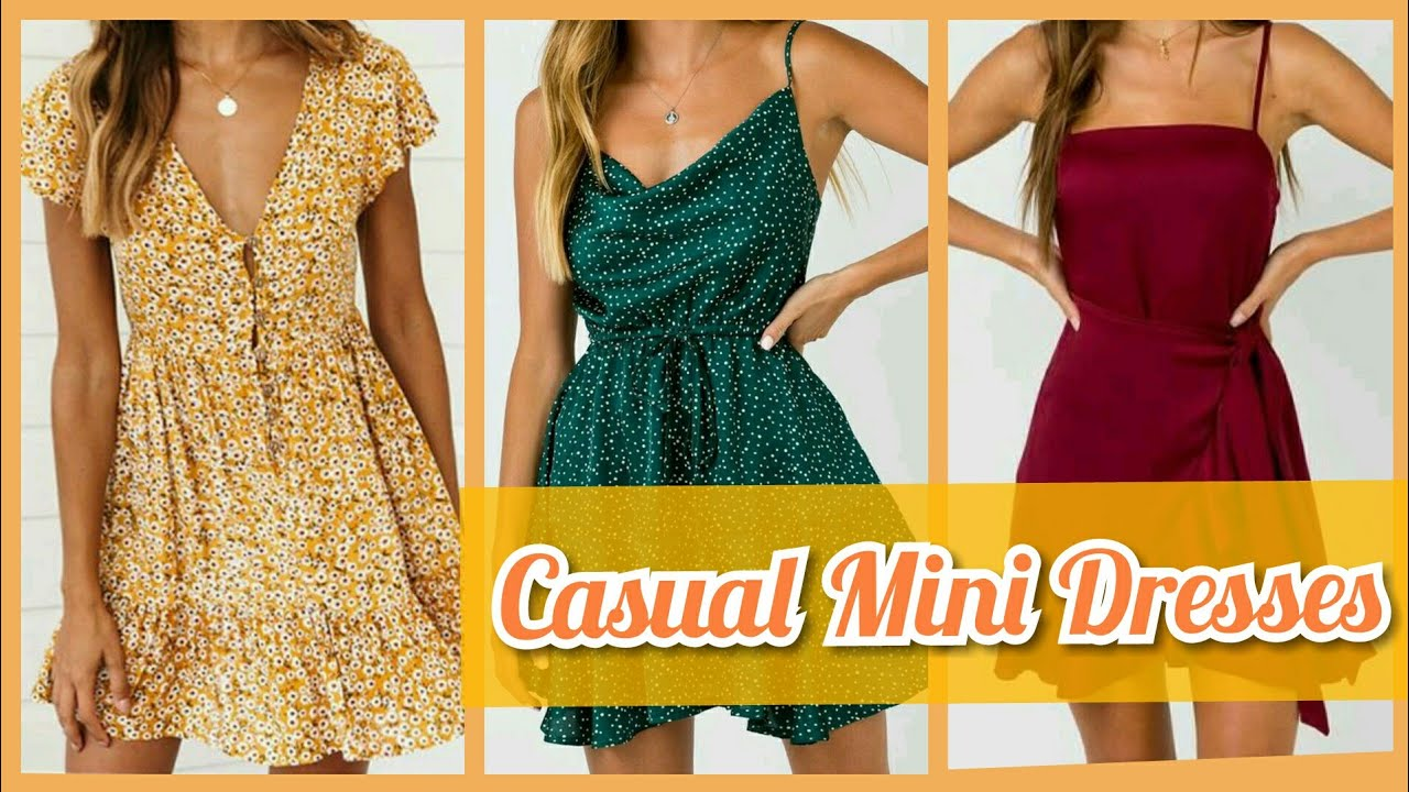 [VIDEO] - 30+ Affordable Spring Outfit Ideas/Casual Printed Mini Dresses Designs 2