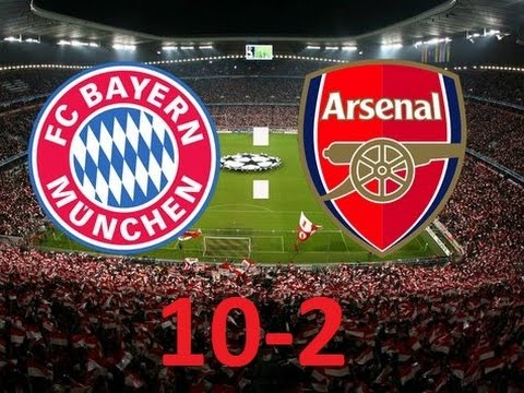 Image result for bayern 10 arsenal 2