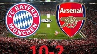 Bayern München vs Arsenal 10-2 Full Highlights All goals 2017 HD