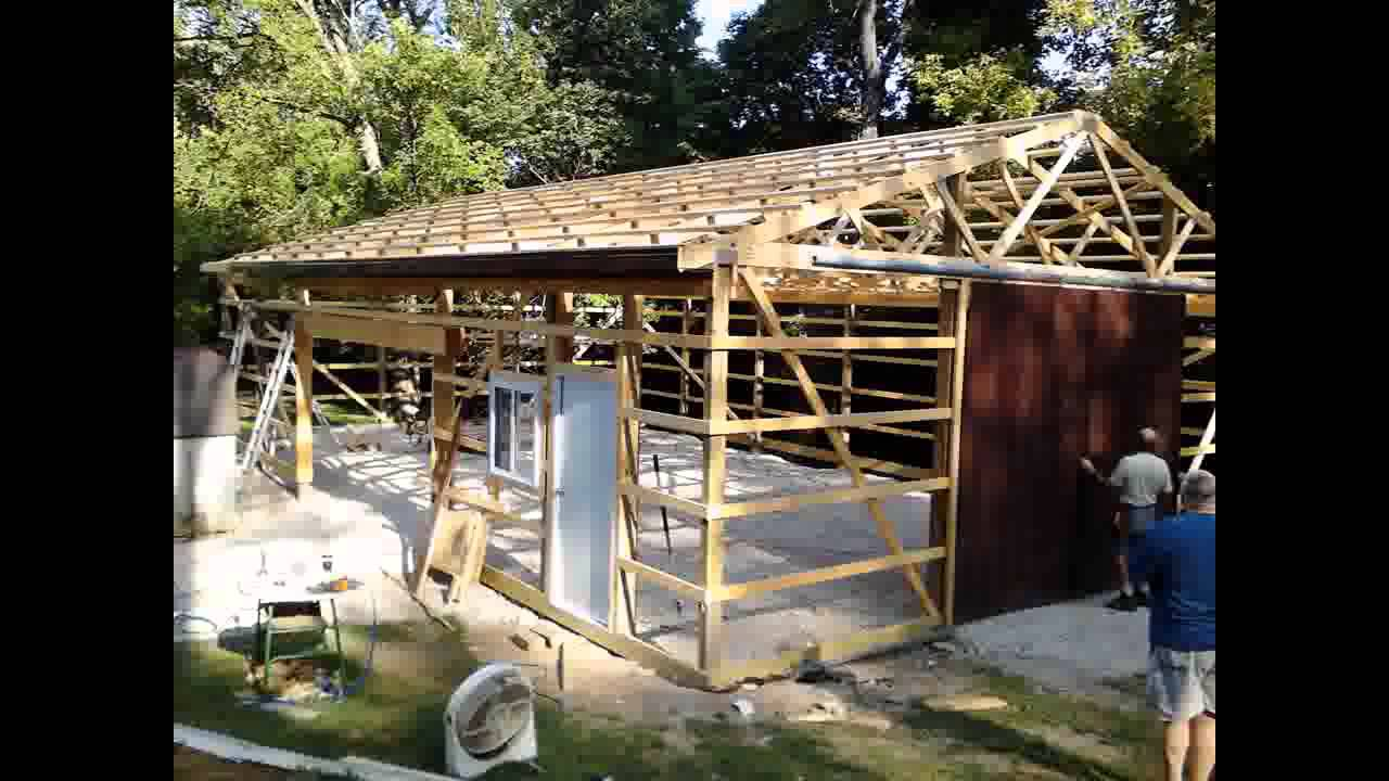 DIY Steel Shed 30 x 50 - YouTube
